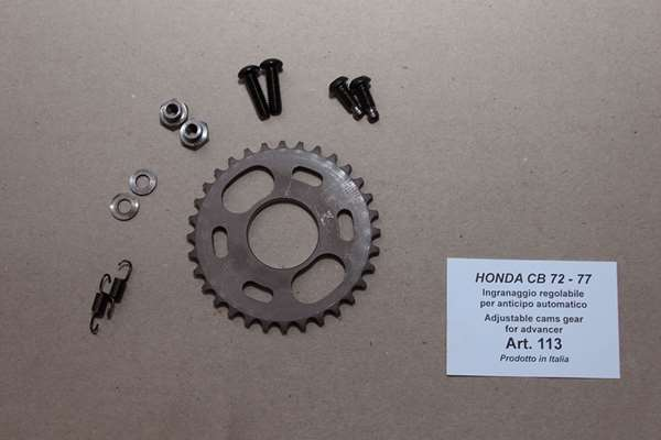 Adjustable cam gear to advance centrifugal original
