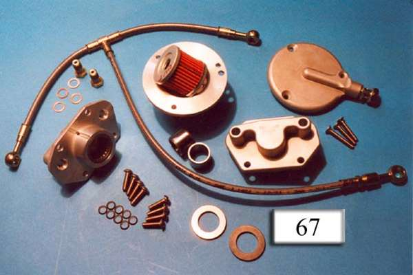 Kit oil filter, cover and oil line