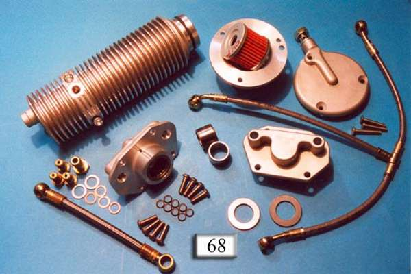 Kit oil filter, cover, oil line and oil cooler