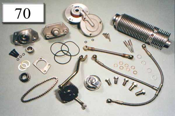 Kit oil pump, oil cooler, cover, oil line
